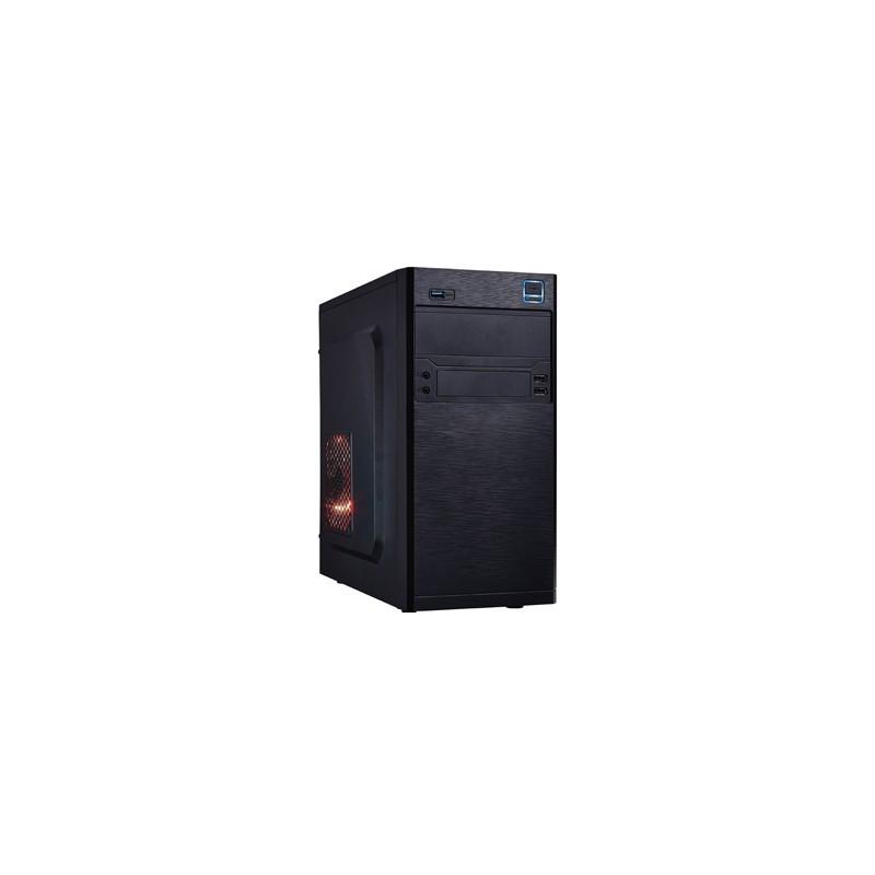 PC skrinka EUROCASE X202 ATX microtower, bez zdroja, čierna MCX202B00
