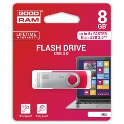 8 GB . USB 3.0 kľúč . GOODDRIVE Twister Červený UTS3-0080R0R11