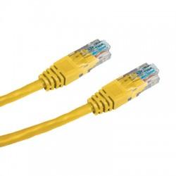 OEM patch kábel Cat5E, UTP - 0,5m , žltý PKOEM-UTP5E-005-YL