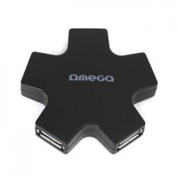 OMEGA USB 2.0 HUB 4 PORT hvězda černý OUH24SB