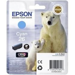 EPSON cartridge T2612 cyan (lední medvěd) C13T26124012
