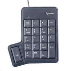 Numerická klávesnice GEMBIRD KPD-UT-01 s tabulátorem, černá KLA05131G
