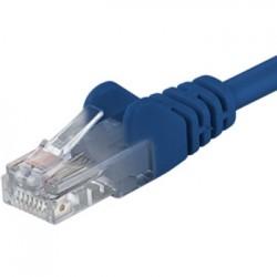 Premiumcord Patch kabel CAT6a S-FTP, RJ45-RJ45, AWG 26/7 0,25m modrá sp6asftp002B