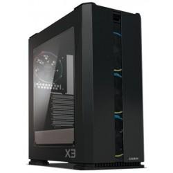 Zalman case X3 černá, Skříň, Middle tower, bez zdroje, ATX, 2x USB 3.0, 2x USB 2.0, průhledná bočnice X3 BLACK