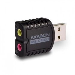 AXAGON ADA-17, USB2.0 - stereo HQ audio MINI adaptér, 24-bit/96kHz