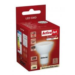 Žiarovka ActiveJet LED SMD AJE-S3710W 600lm 7,5W GU10 teplá biela