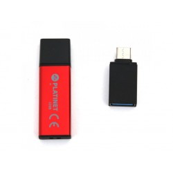 PLATINET PENDRIVE USB 2.0 X-Depo 32GB + Type-C Adapter RED PMFEC32R