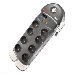 APC Performance SurgeArrest 8 (1 PLC Compatible) outlets with Phone and COAX Protection 230V France, 3m PL8VT3-FR