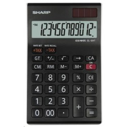 SHARP kalkulačka - EL-124TWH - černá SH-EL124TWH