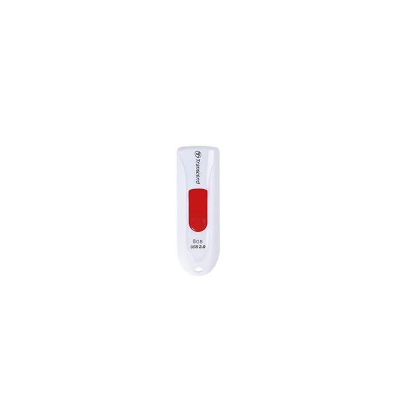 Transcend 8GB JetFlash 590W, USB 2.0 flash disk, bílo/červený TS8GJF590W