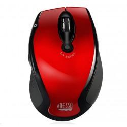 ADESSO myš iMouse M20R, bezdrátová, optická, červená