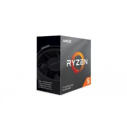 CPU AMD RYZEN 5 3600, 6-core, 3.6 GHz (4.2 GHz Turbo), 35MB cache (332), 65W, socket AM4, tray 100-000000031