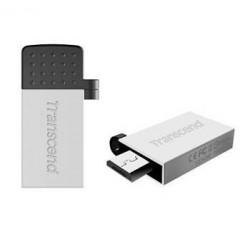 Transcend 32GB JetFlash 380S, USB 2.0 flash disk, OTG, malé rozměry, stříbrně obarvený kov TS32GJF380S