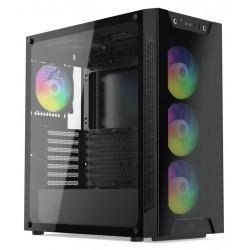 SilentiumPC skříň MidT Armis AR6X EVO TG ARGB, 2x USB 3.0, 5x 120...