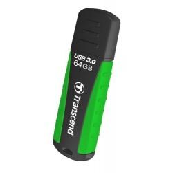 Transcend 64GB JetFlash 810, USB 3.0 flash disk, zeleno-černý, odolá nárazu, tlaku, prachu i vodě TS64GJF810