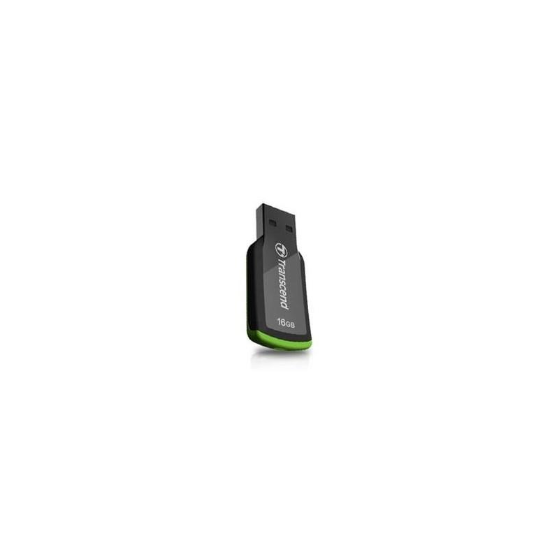 Transcend 16GB JetFlash 360, USB 2.0 flash disk, černo/zelený TS16GJF360