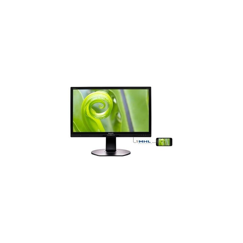 "Philips LCD 241P6EPJEB/00 23,8"" AH-IPS/1920x1080/20M:1/5ms/250cd/VGA/DVI-D/DP/HDMI (MHL)/4xUSB 3.0+ faster charger/Repr"
