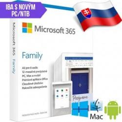 Microsoft 365 Family SK 1rok ML Save Now 6GQ-01165 SN