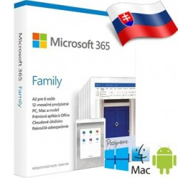 Microsoft 365 Family SK 1rok ML 6GQ-01165