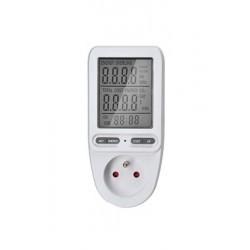 Solight digitálny merač spotreby el. energie, veľký displej DT27