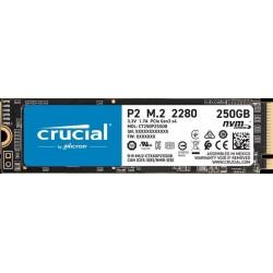 Crucial P2 250GB SSD, M.2 2280, PCIe Gen3 x4, Read/Write: 2100/1150...