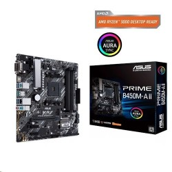 ASUS PRIME B450M-A II soc.AM4 B450 DDR4 mATX M.2 D-Sub DVI HDMI...