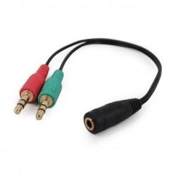 Gembird audio adaptér 3.5 mm 4-pin (F) na 2 x 3.5 mm stereo jack...