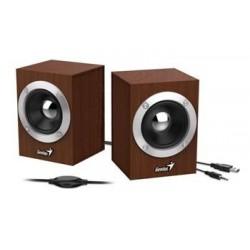 GENIUS repro SP-HF280, 2.0, 6W, USB napájení, 3,5mm jack, dřevěné,...