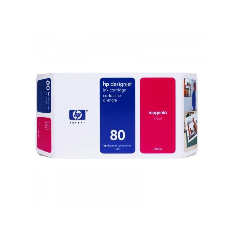 HP originál ink C4874A, No.80, magenta, 175ml, HP DesignJet 1050, C, 1055, C, CM