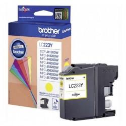 Brother originál ink LC-223Y, yellow, 600str., Brother MFC-J4420DW, MFC-J4620DW LC223Y
