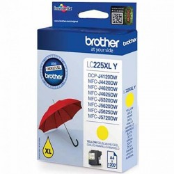 Brother originál ink LC-225XLY, yellow, 1200str., Brother MFC-J4420DW, MFC-J4620DW LC225XLY