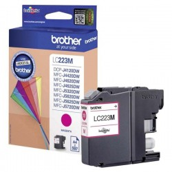 Brother originál ink LC-223M, magenta, 600str., Brother MFC-J4420DW, MFC-J4620DW LC223M