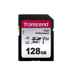 Transcend 128GB SDXC 330S UHS-I U3 V30 A2 paměťová karta, 100 MB/s...