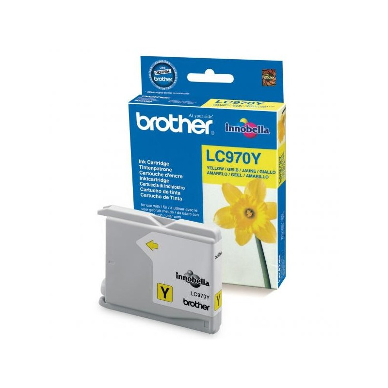 Brother originál ink LC-970Y, yellow, 300str., Brother DCP-135C, 150C, MFC-235C, 260C LC970Y