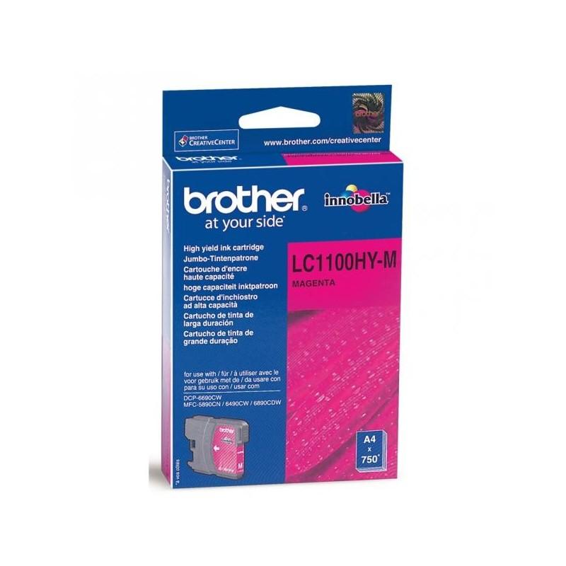 Brother originál ink LC-1100HYM, magenta, 750str., high capacity, Brother DCP-6690CW, MFC-6490CW LC1100HYM