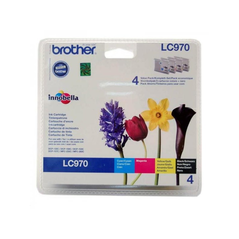 Brother originál ink LC-970VALBP, CMYK, 300str., Brother DCP-135C, 150C, MFC-235C, 260C LC970VALBP