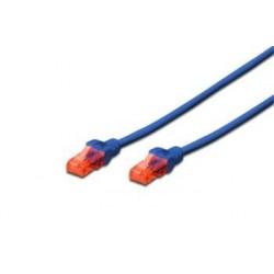 Digitus Ecoline Patch Cable, UTP, CAT 6e, AWG 26/7, modrý 0,5m, 1ks...