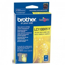 Brother originál ink LC-1100HYY, yellow, 750str., high capacity, Brother DCP-6690CW, MFC-6490CW LC1100HYY