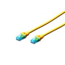 Digitus Ecoline Patch Cable, UTP, CAT 5e, AWG 26/7, žlutý 2m, 1ks...