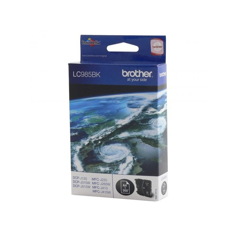 Brother originál ink LC-985BK, black, 300str., Brother DCP-J315W LC985BK