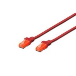 Digitus Ecoline Patch Cable, UTP, CAT 6e, AWG 26/7, červený 0,5m,...