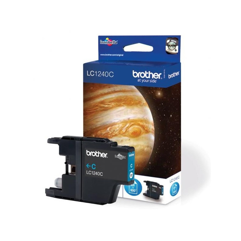 Brother originál ink LC-1240BK, black, 600str., Brother MFC-J6910DW LC1240BK