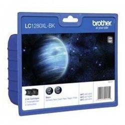 Brother originál ink LC-1280XLBKBP2, black, 2x2400str., high capacity, Brother MFC-J6910DW LC1280XLBKBP2