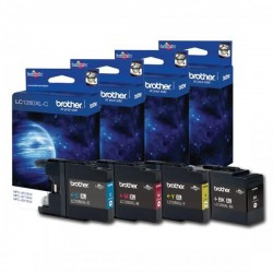 Brother originál ink LC-1280XLVALBP, CMYK, 2400/3x1200str., high capacity, Brother MFC-J6910DW LC1280XLVALBP