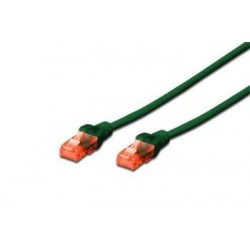 Digitus Ecoline Patch Cable, UTP, CAT 6e, AWG 26/7, zelený 0,5m,...