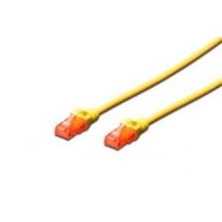 Digitus Ecoline Patch Cable, UTP, CAT 6e, AWG 26/7, žlutý 0,5m, 1ks...