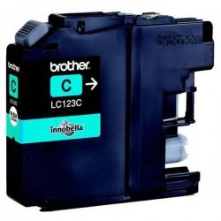 Brother originál ink LC-123C, cyan, 600str., Brother MFC-J4510 DW LC123C