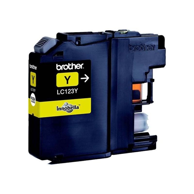 Brother originál ink LC-123Y, yellow, 600str., Brother MFC-J4510 DW LC123Y