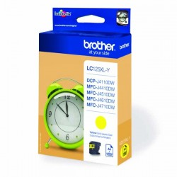 Brother originál ink LC-125XLY, yellow, 1200str., Brother MFC-J4510 DW LC125XLY