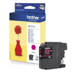 Brother originál ink LC-121M, magenta, 300str., Brother DCP-J552DW, MFC-J470DW LC121M